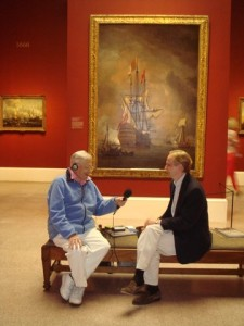 (L to R) Ralph Collier interviews Robin Nicholson, associate director of exhibitions at the Virginia Museum of Fine Arts about the 'Rule Britannia!' exhibit.